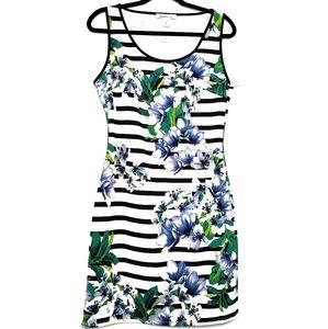 Floral Body Con Sleeveless Tank Dress NWT